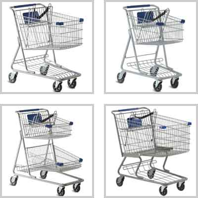 Wire Metal Retail Shopping Carts
