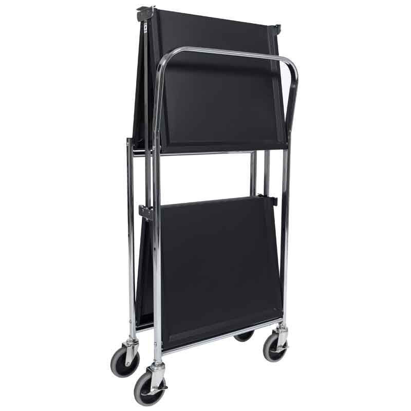 Model MSCC-2 Two-Shelf Collapsible Metal Utility Cart