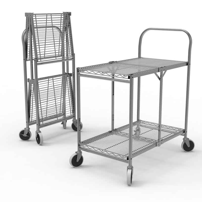 Factory Utility Cart: Personal Folding Shopping Carts