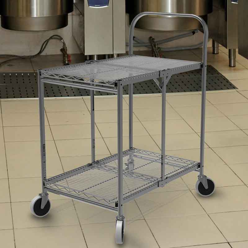 Model WSCC-2 Two-Shelf Collapsible Wire Utility Cart