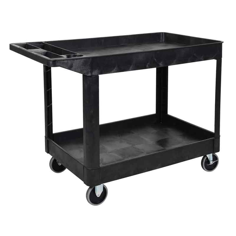 Model XLC11 24.5x37 Heavy-Duty Two Tub Utility Cart