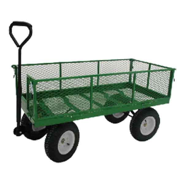 24x48FDS Expanded metal single deck wagon with fold down sides