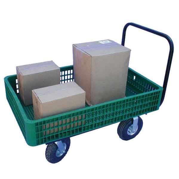 Model 30x46C Plastic Mesh Crate Cart