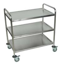 ST3 Stainless Steel Three Shelf Cart
