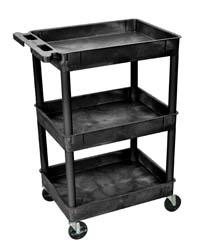 STC111 18x24 Three Tub Utility Cart
