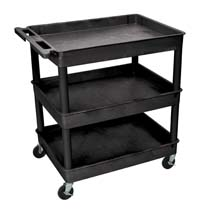 TC111 24x32 Three Tub Utility Cart