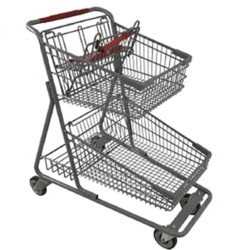 Model 090 Two Basket Large Cart with lower back tray