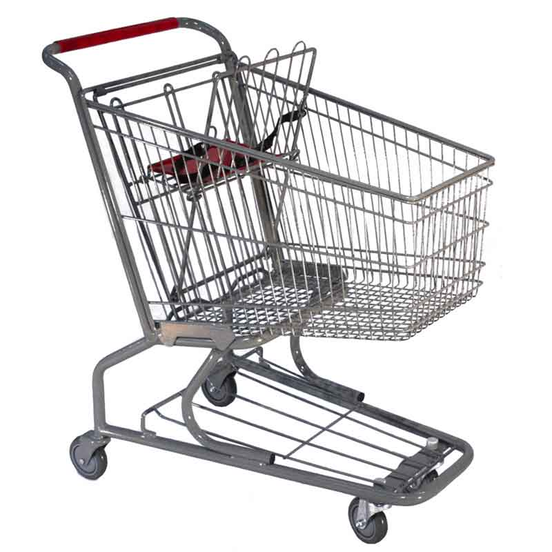 Model 120 Small Wire Metal Shopping Cart