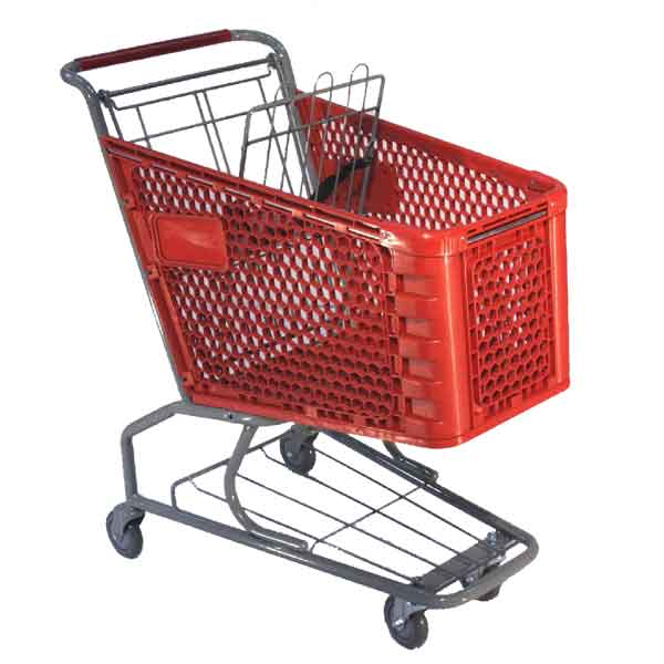 Model 150 Small Plastic Retail Shopping Cart