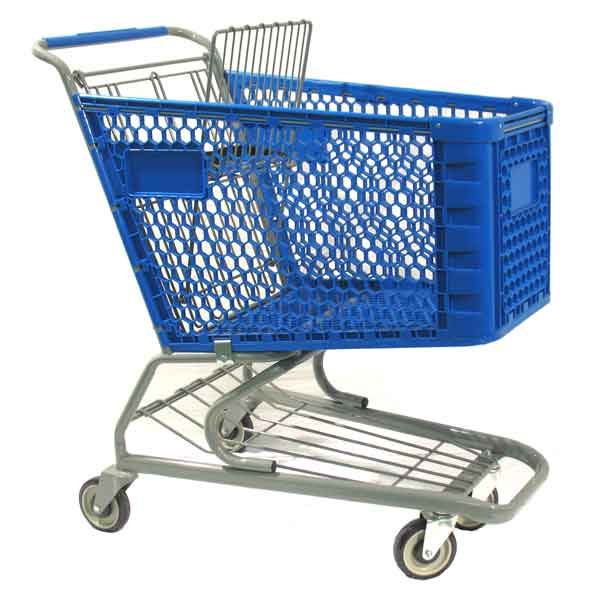 Model 550 Medium Plastic Retail Shopping Cart