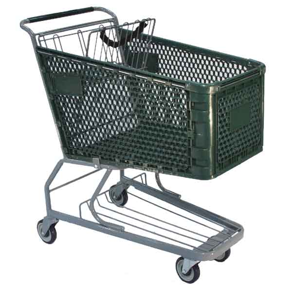 Model 600 Medium Plastic Grocery Shopping Cart - Premier Carts
