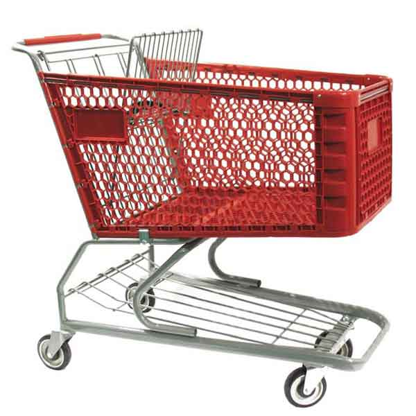 Model 650 Large Plastic Retail Shopping Cart