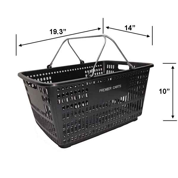 Model HB18W Plastic Hand Basket with optional stand