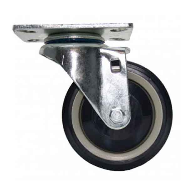 Plate Swivel Caster with 4 Inch Poly Wheel