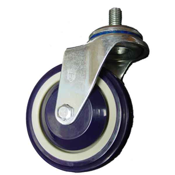 Stem Swivel Caster with 4 Inch Polyurethane Wheel