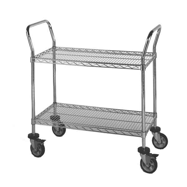 Model 2SUC Two Shelf Wire Utility Cart