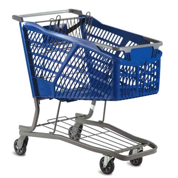 Model HC20 Large Plastic Retail Shopping Cart